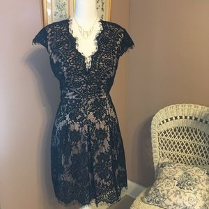 SHEIN black lace dress, special occasion.